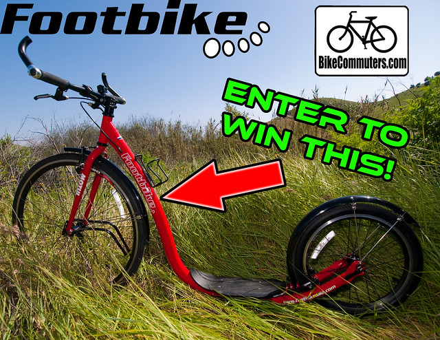 'Win a Footbike' poster