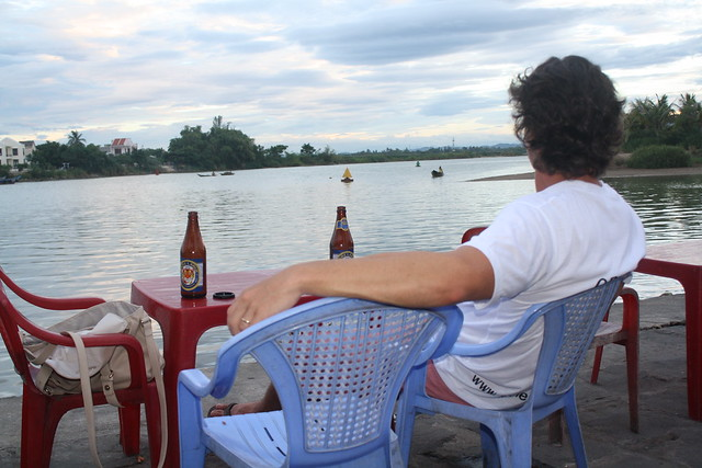 Sitting by the River in Hoi An, Vietnam