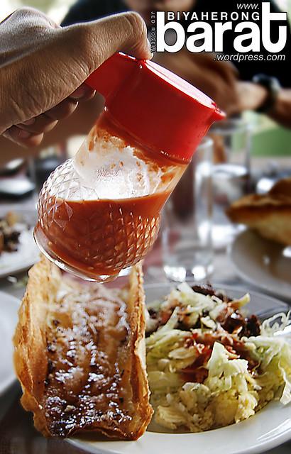 hot sauce on jumbo taco subic zambales