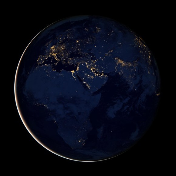 Black Marble - Africa, Europe, and the Middle East