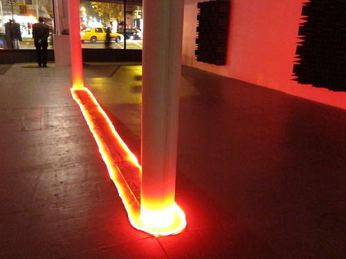 Haroon Mirza: Preoccupied Waveforms at the New Museum by Scoboco