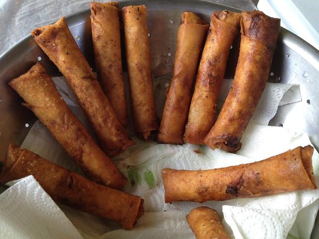 Freshly fried lumpia