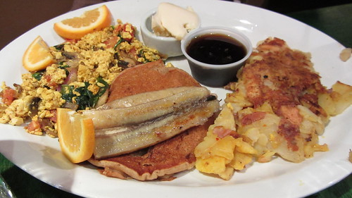 combo plate with optional pancakes at herbivore