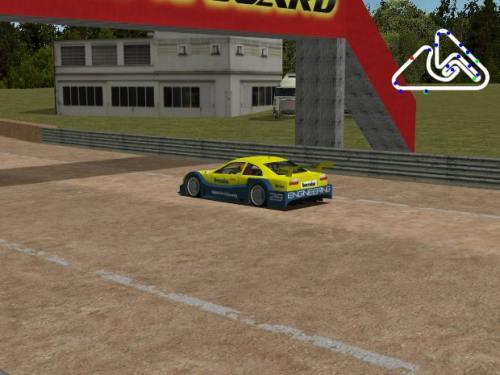 coche azul y amarillo deportivo carreras en linux