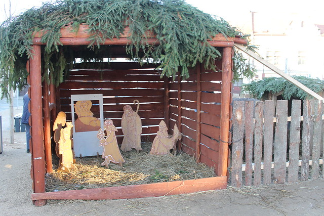 Nativity scene in Mšeno