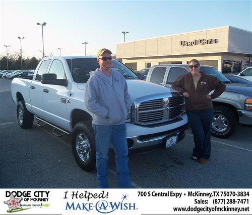 Congratulations Jessie E Harris III on the 2008 Dodge Ram 2500 by Dodge City McKinney Texas