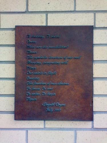 "Ingrid Cryns, ""A Doorway"", 115 The Esplanade"