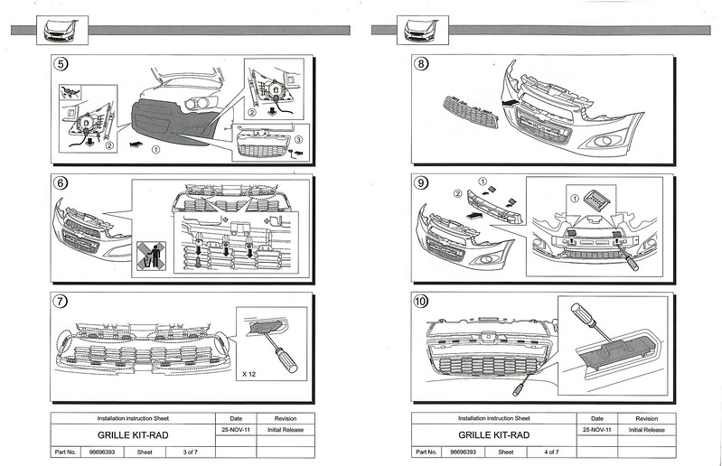 Service manual [Diagram Of Removing A Grill From A 1996