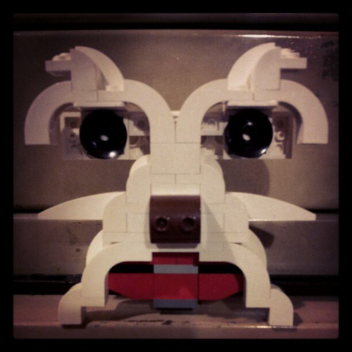 I also built this for a #Lego  project that never came to fruition: the face of a #dog. by brickplate