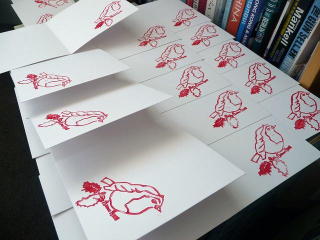 Robin Linocut Stamp