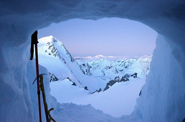 Snow cave views