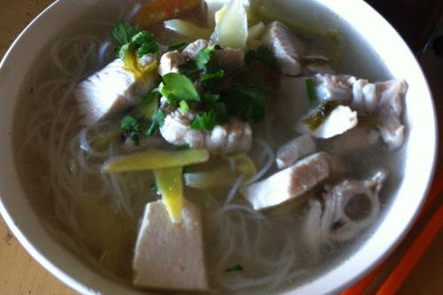 Bee hoon fish soup