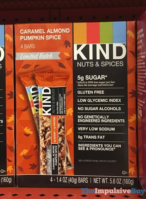 Kind Limited Batch Caramel Almond Pumpkin Spice Bars