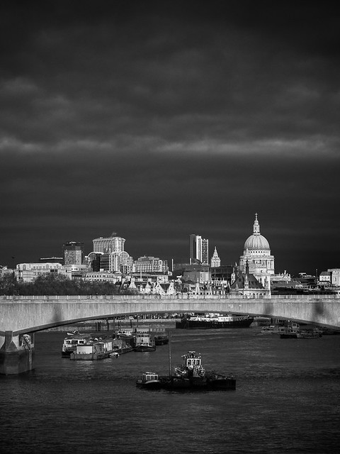 Late afternoon light on St Paul's Cathedral
