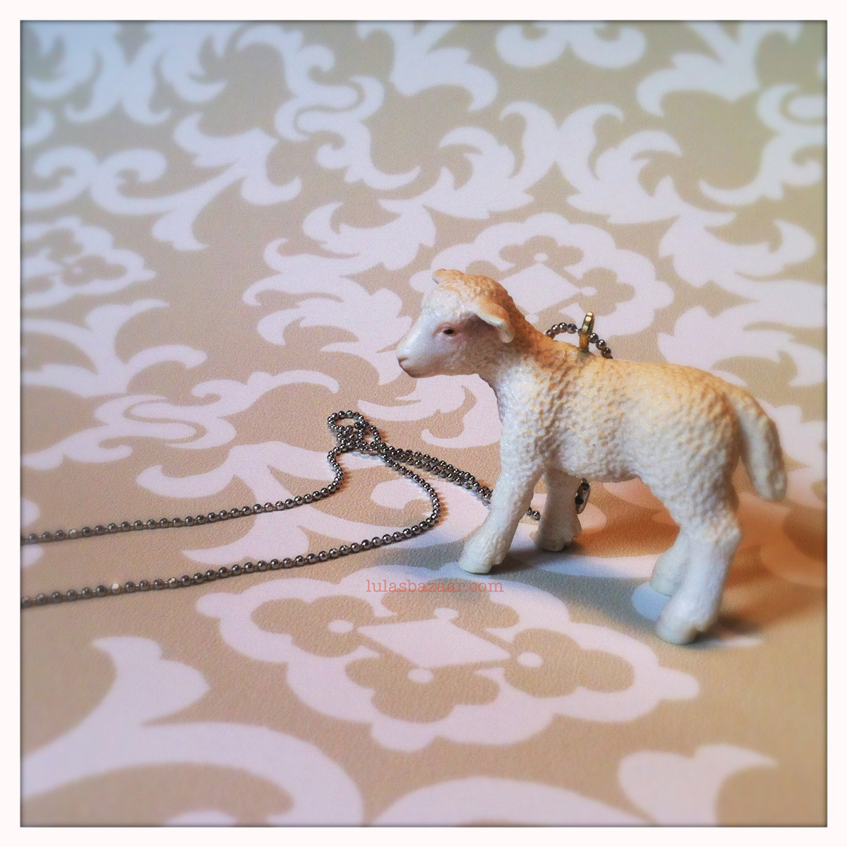 toy lamb necklace