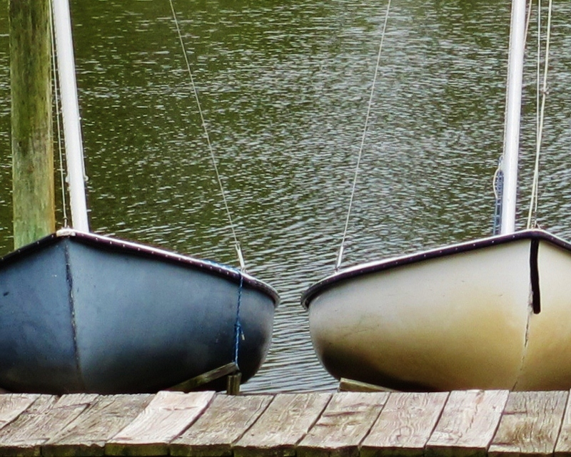 two boats in deep creek