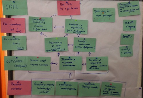 Livestock and Fish value chain outcomes in a theory of change group product by ILRI CC Flickr