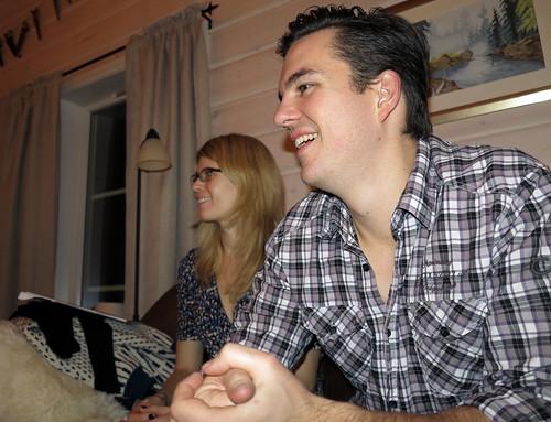 Hilde Marie og Paul smilte om kapp med hverandre