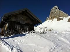 Filmoor/Standschützenhütte und dahinter der Große Kinigat