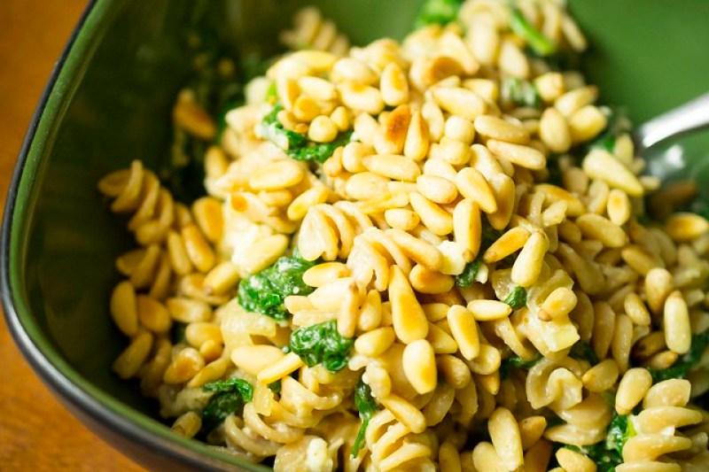 spinach&pinenutpasta