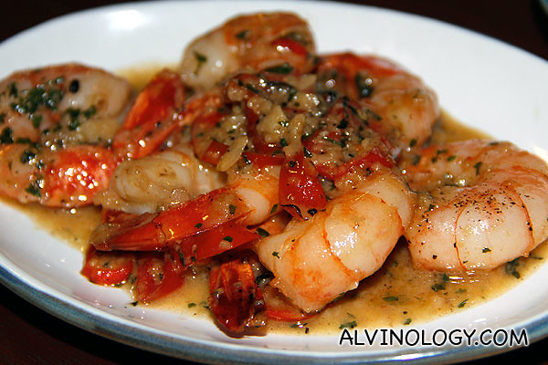 Sauteed Garlic Prawns with Olive Oil