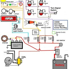 Yamaha Moto 4 80 Wiring Diagram 36 Volt Golf Cart Cb360 Simplified W/kick Start Only, Signals, Check It Out.
