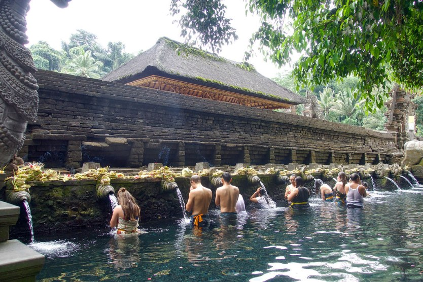 The sacred holy baths of Pura Titra Empul.