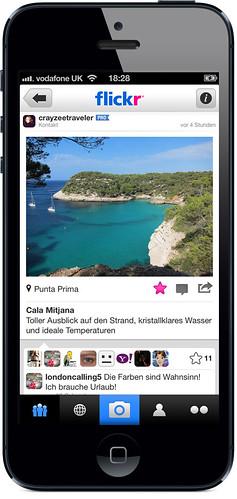Die neue Flickr iPhone App