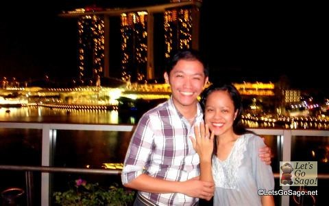 The Proposal with Marina Bay Sands as backdrop