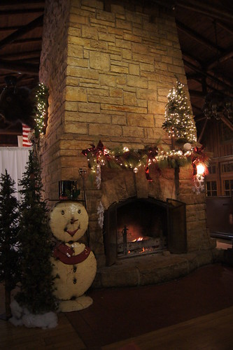 Holiday decor and Fireplace
