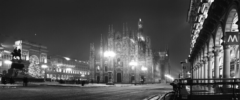 Milano, neve