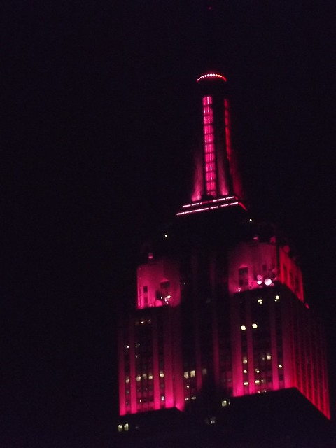 The Empire State Building in gorgeous Fuschia Pink