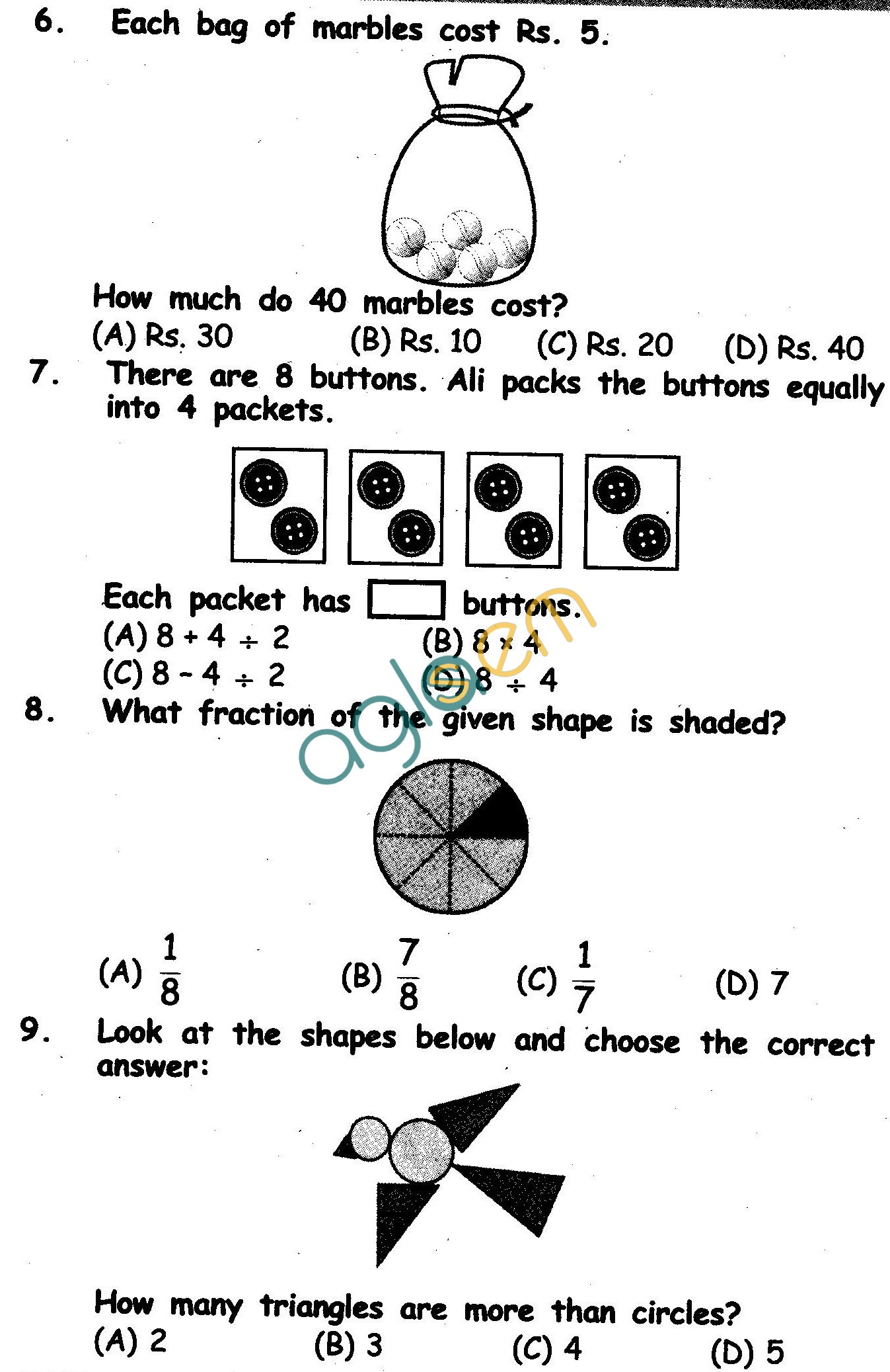 Olympiad maths sample papers for class 2