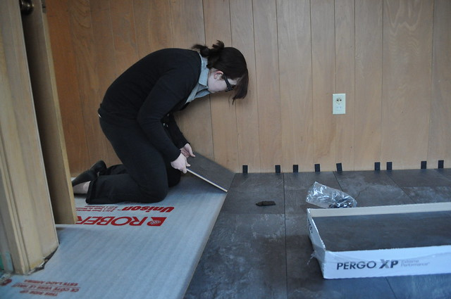 Teela Putting Down Flooring