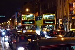 Traffic jam at Temple Bar, Dublin