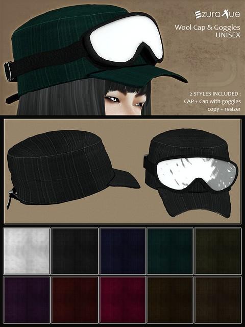 ezura + Wool Cap & Goggles UNISEX