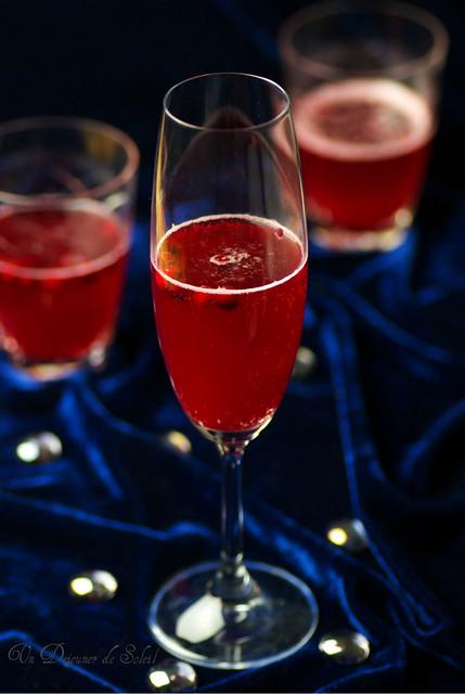 Cocktail champagne et airelles