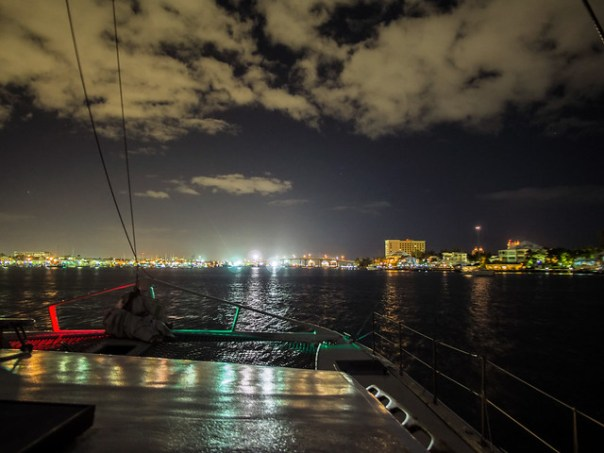 Nassau harbor at night