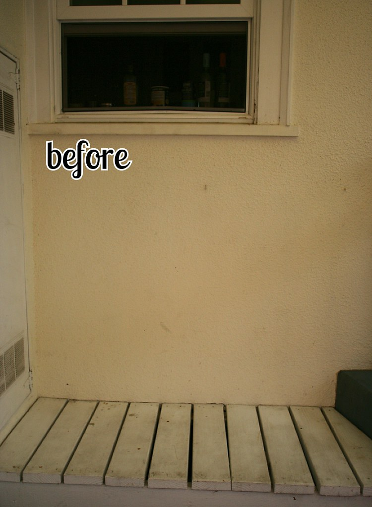 outdoor bench before