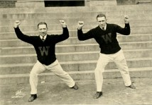 Cheerleaders Wake Forest College 1926