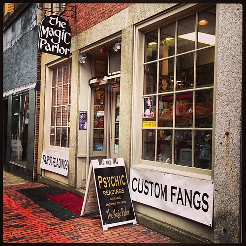 We stopped in Salem, Mass. Custom fangs, anyone?