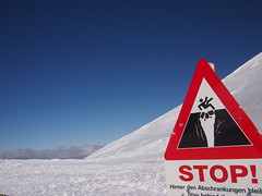 Stop or fall into a crevasse