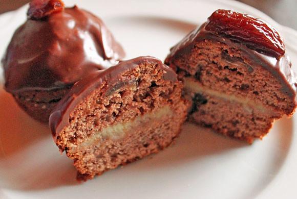 Orientalische Schokoladen-Törtchen