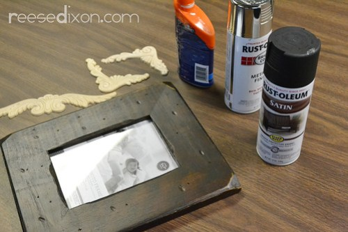 Antiqued Picture Frame Tutorial Step 1