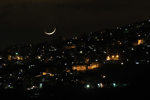 Moon Setting over Jerusalem