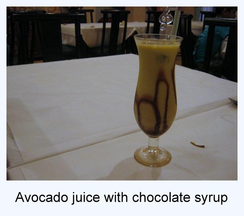 Indonesian avocado juice, jus alpukat