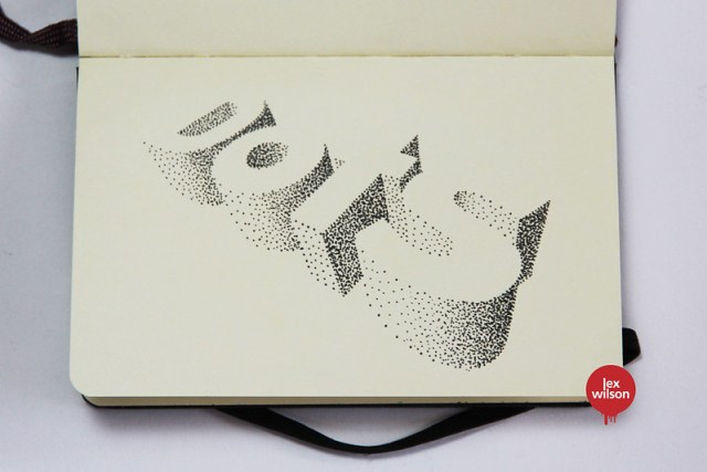 Moleskine illustration #69: Dots (typography)