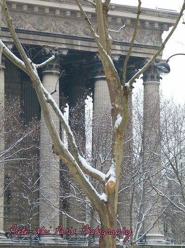 Paris Snow La Madeleine