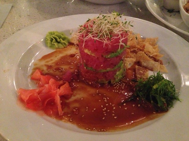 Tower of avocado and tuna tartar - Lulu California Bistro