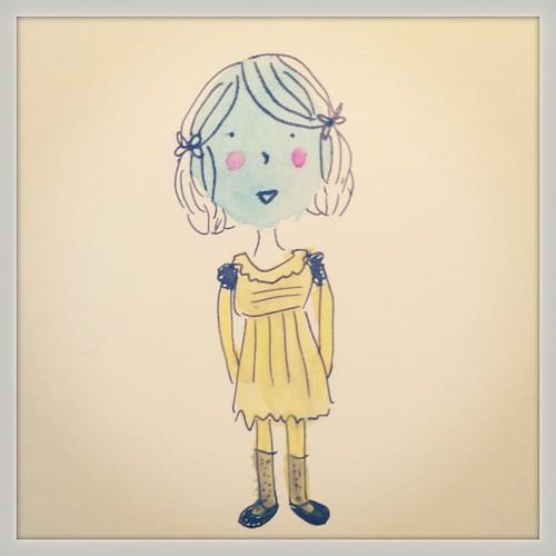 *Vintage girl* #boceto #sketch #dibujo